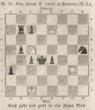 1860 chess problem Samuel Loyd in Florence New York