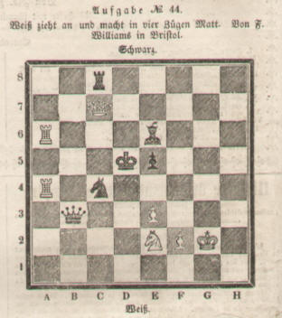 1844 chess problem by Williams in Bristol