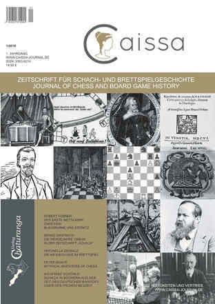 Caissa Journal for the history of chess and other board games 2016
