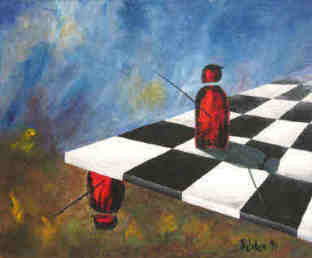 Chess - Irrational Position painting by Elke Rehder